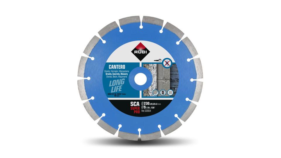 Disc diamantat pt. materiale de constructii 230mm, SCA 230 Super Pro - RUBI-30904 RUBI