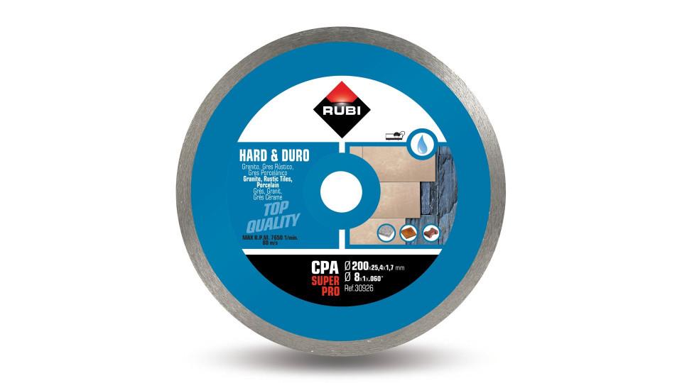 Disc diamantat pt. materiale foarte dure 200mm, CPA 200 SuperPro - RUBI-30926 RUBI
