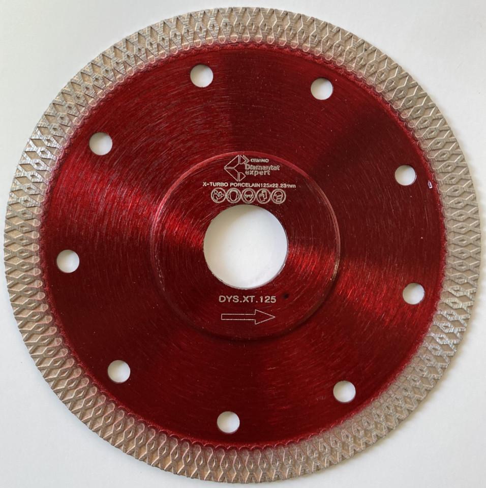 Disc DiamantatExpert pt. Portelan dur & Gresie ft. dura 125x22.2 (mm) Premium - DXDY.XTURBO.125 DiamantatExpert