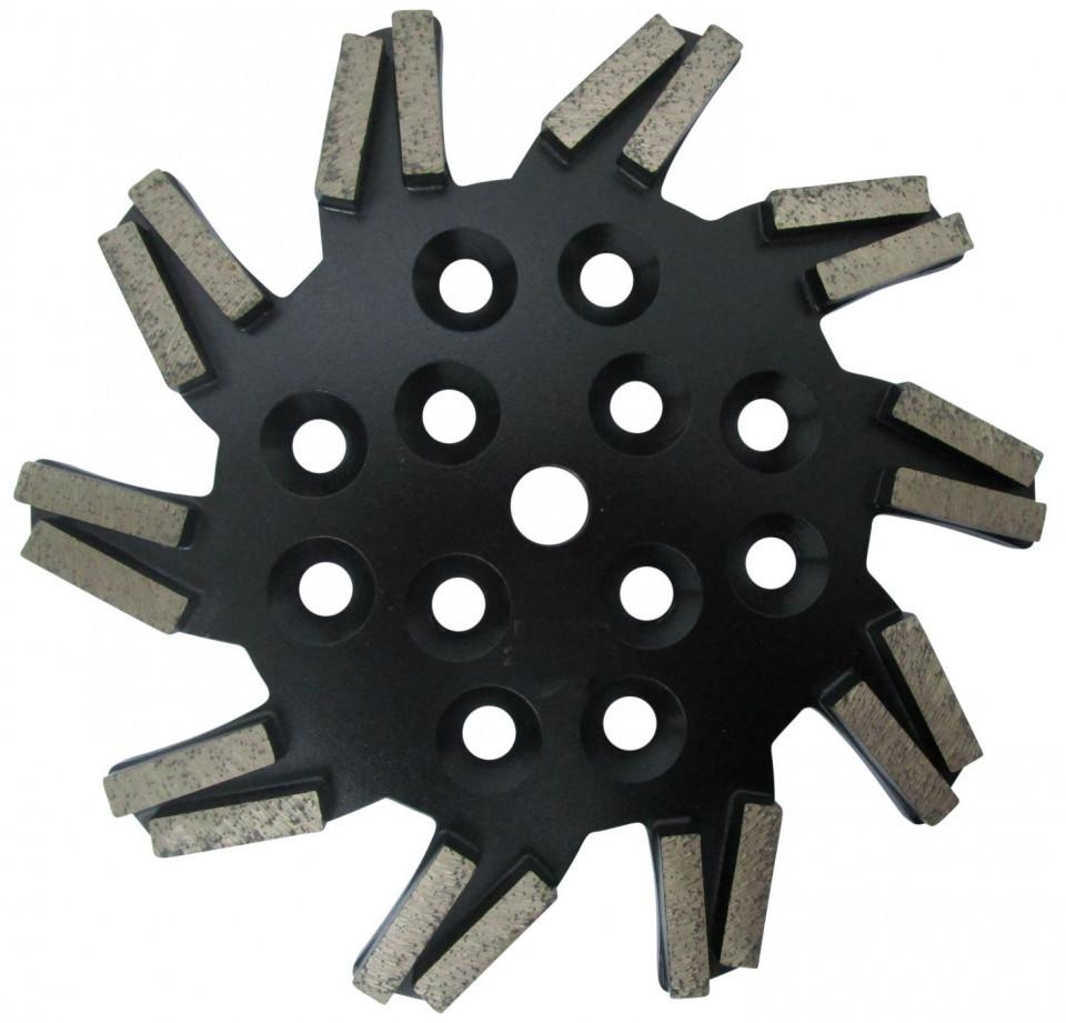 Disc stea cu segmenti diamantati pt. slefuire pardoseli - segment foarte fin - Negru - 250 mm - prindere 19mm - DXDH.8501.250.11.73 DiamantatExpert