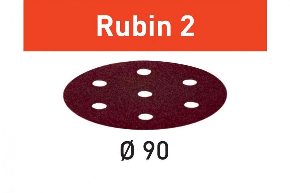 Foaie abraziva STF D90/6 P60 RU2/50 Rubin 2 Festool