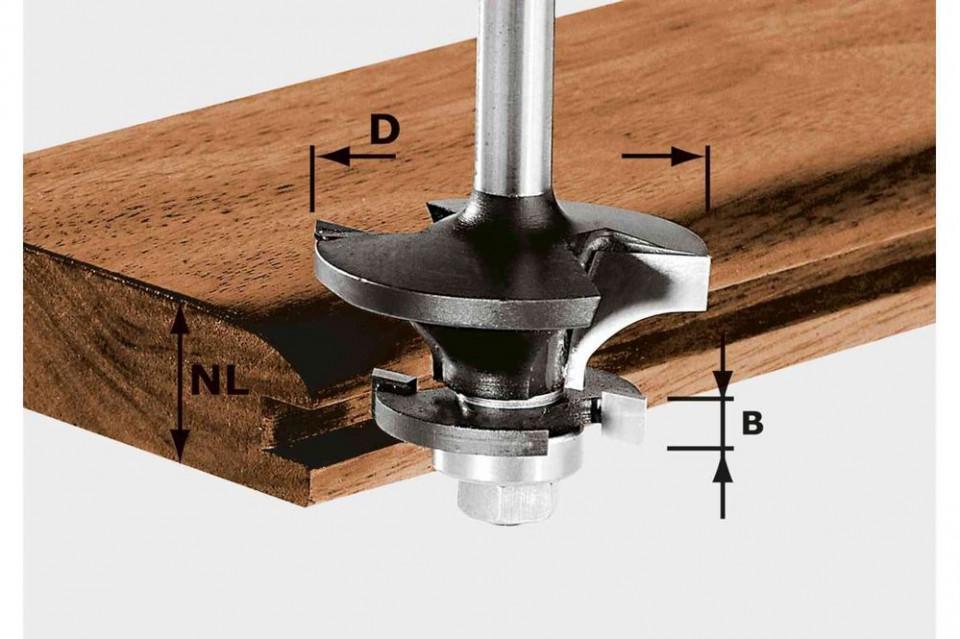 Freză contra-profil/nut pentru canale HW S8 D43/21 A/KL imagine Festool albertool.com