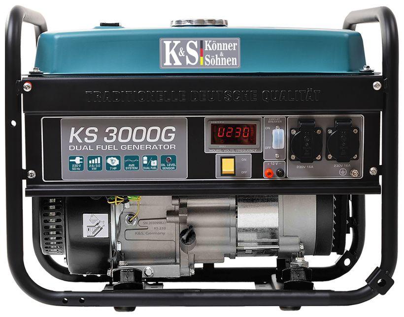 Generator de curent 3 kW HIBRID (GPL + Benzina) - Konner & Sohnen - KS-3000-G imagine Konner & Sohnen albertool.com