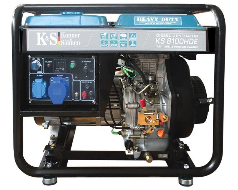 Generator de curent 6.5 kW diesel - Heavy Duty - Konner & Sohnen - KS-8100DE-HD imagine Konner & Sohnen albertool.com