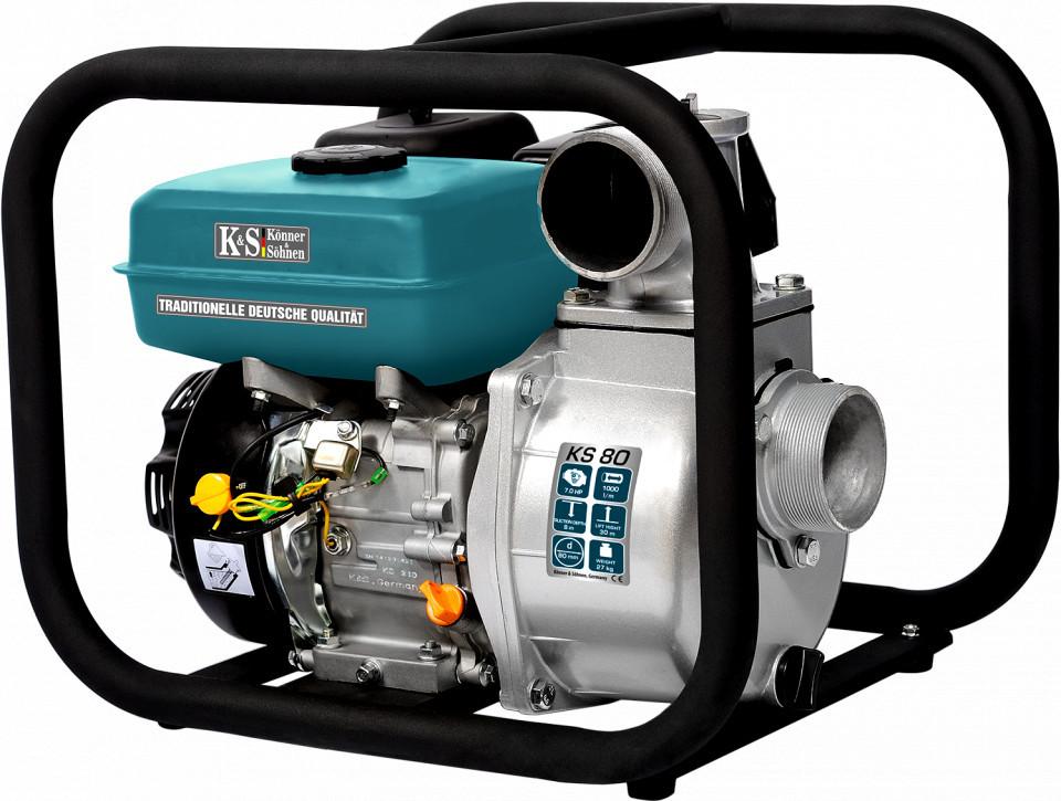 """Motopompa apa curata 3"""" - 1000 l / min - Konner & Sohnen - KS-80 imagine Konner & Sohnen albertool.com"""