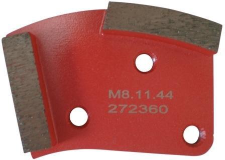 Placa cu segmenti diamantati pt. slefuire pardoseli - segment mediu (rosu) - # 40 - prindere M8 - DXDH.8508.11.44 DiamantatExpert