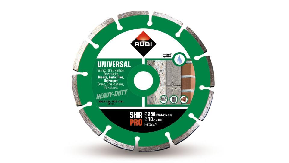 Disc diamantat pt. materiale de constructii 250mm, SHR 250 Pro - RUBI-32974 RUBI