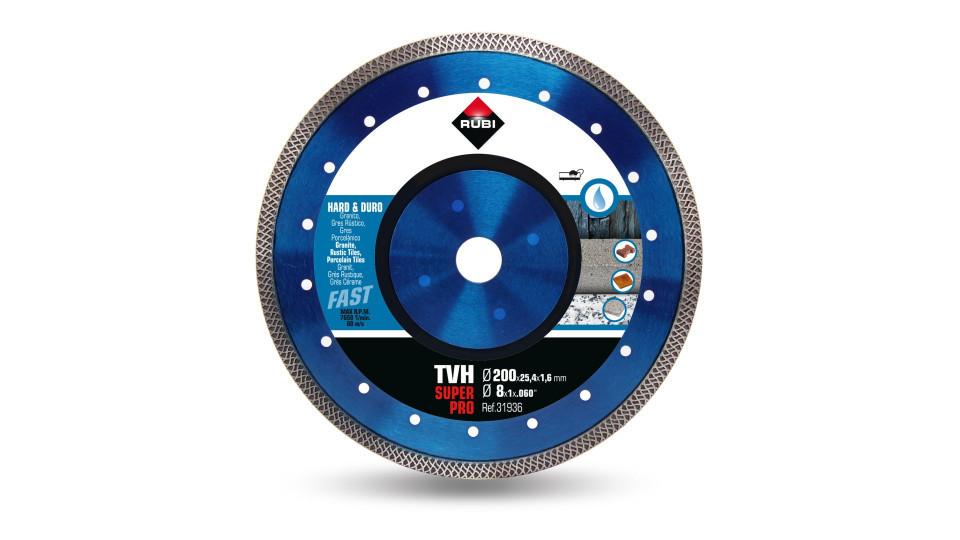 Disc diamantat pt. materiale foarte dure 200mm, TVH 200 SuperPro - RUBI-31936 RUBI