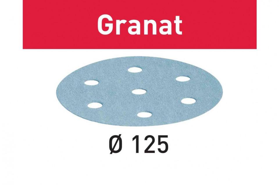 Foaie abraziva STF D125/8 P100 GR/100 Granat imagine Festool albertool.com