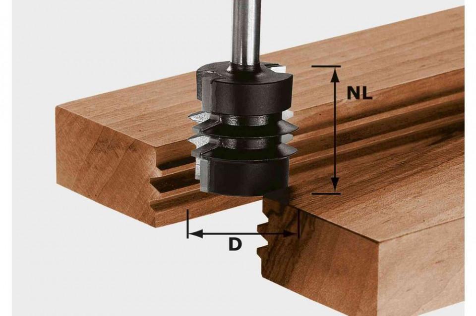 Freză pentru îmbinări încleiate nut şi feder HW S8 D34/NL32 Festool