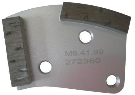Placa cu segmenti diamantati pt. slefuire pardoseli - segment DPC dual - prindere M8 - DXDH.8508.41.99 DiamantatExpert