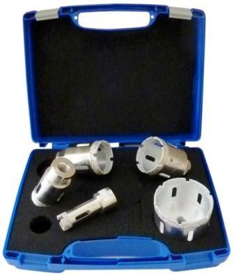 Set carote diamantate pt. gresie portelanata & piatra - diam. 20, 35, 45, 50, 68mm Super Premium - DXDH.80407.Satz20-68 imagine DiamantatExpert albertool.com