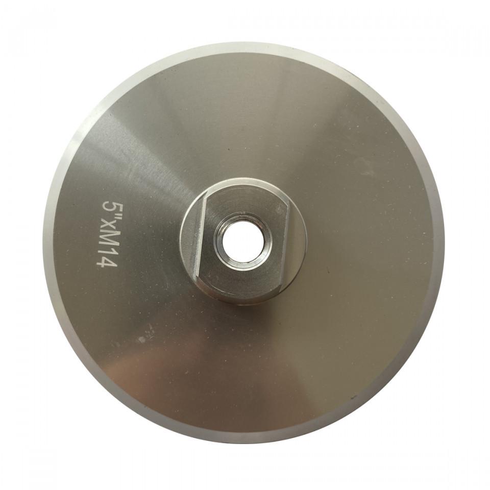 Suport rigid pt. dischete / paduri diamantate cu velcro Ø125mm - prindere M14 - DXDY.PADSUP.ALU.125 DiamantatExpert
