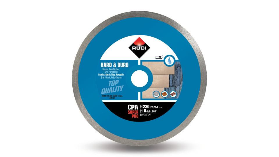 Disc diamantat pt. materiale foarte dure 230mm, CPA 230 SuperPro - RUBI-30928 RUBI