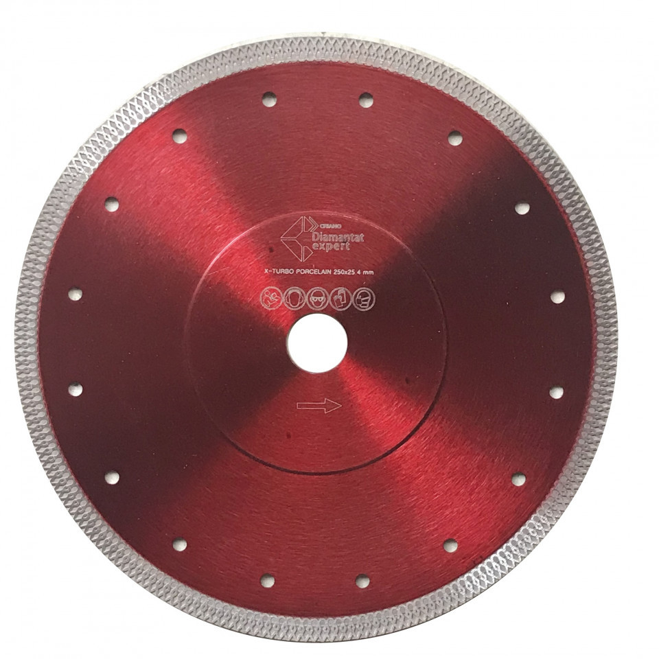 Disc DiamantatExpert pt. Portelan dur & Gresie ft. dura 200x25.4 (mm) Premium - DXDY.XTURBO.200.25 DiamantatExpert