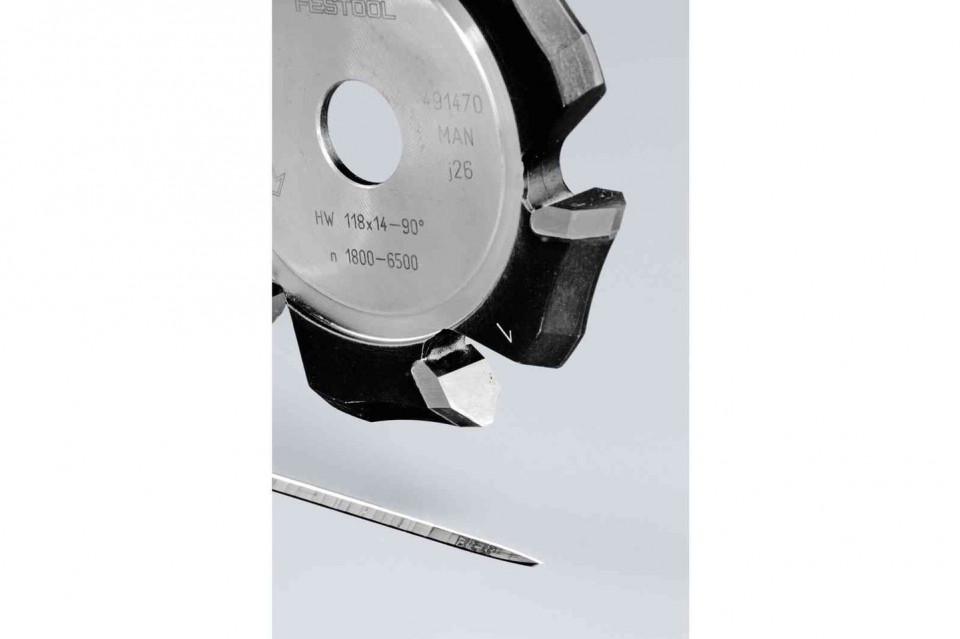 Freză de canelat in forma de V HW 118x14-90°/Alu Festool