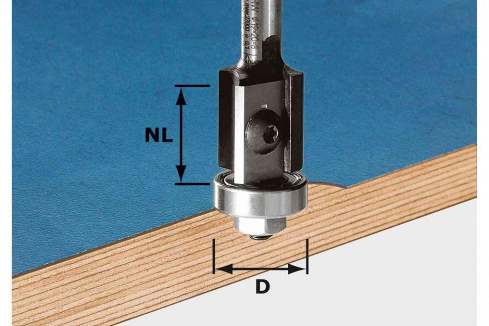 Freză pentru frezarea coplanară, cu plăcuţe amovibile HW S8 D19/20WM Z2 Festool