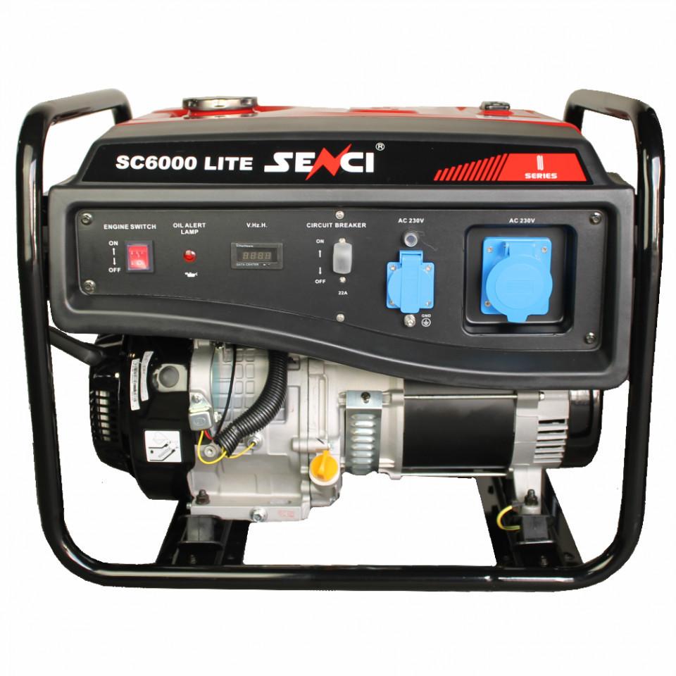 Generator de curent monofazat SC-6000 LITE Putere max. 5.5 kW imagine SENCI albertool.com