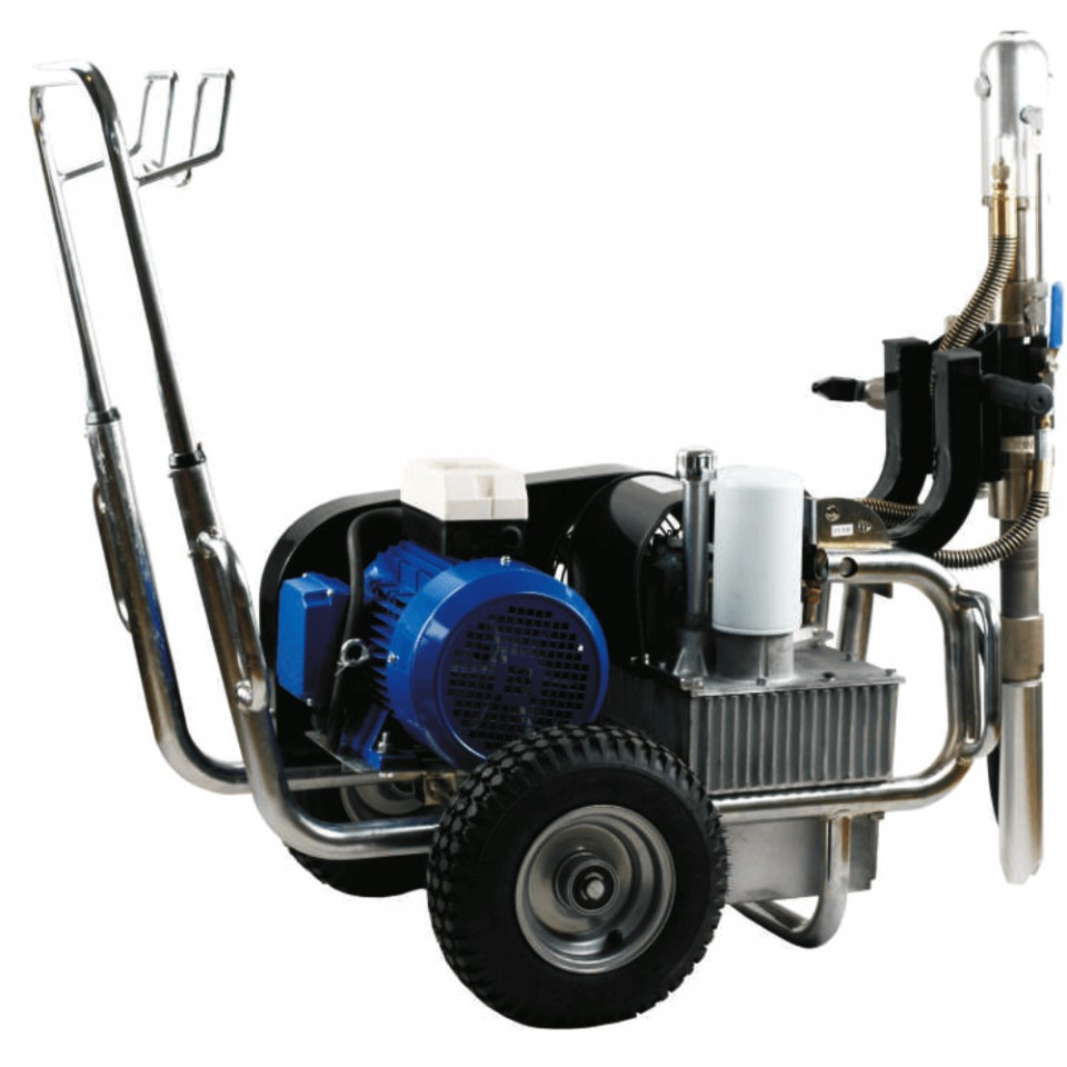 Pompa airless hidraulica debit 10 l/min PAZ-9600e aplicare glet mecanizat imagine Bisonte albertool.com
