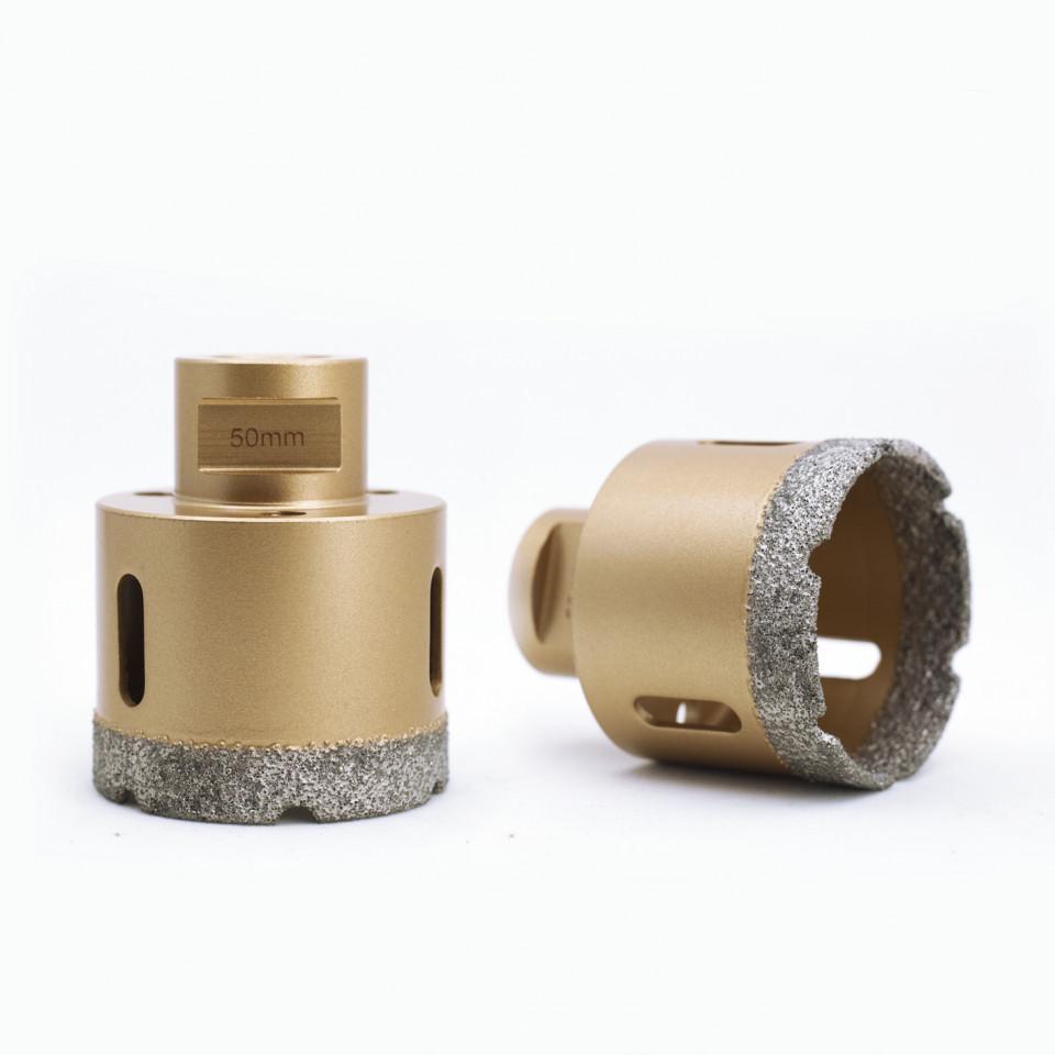 Carota diamantata pt. gresie portelanata & piatra - diam. 50mm - Premium - DXDY.GOLDrill.50 DiamantatExpert