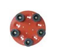 Disc cu 5 pietre oala din carbura de silicon pt. slefuiri placi, Ø490mm, gran. 16 - pt. Maxitina - Raimondi-250 Raimondi