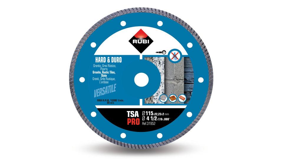 Disc diamantat pt. materiale foarte dure 115mm, TSA 115 Pro - RUBI-31952 RUBI