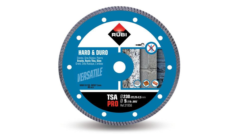 Disc diamantat pt. materiale foarte dure 230mm, TSA 230 Pro - RUBI-31958 RUBI