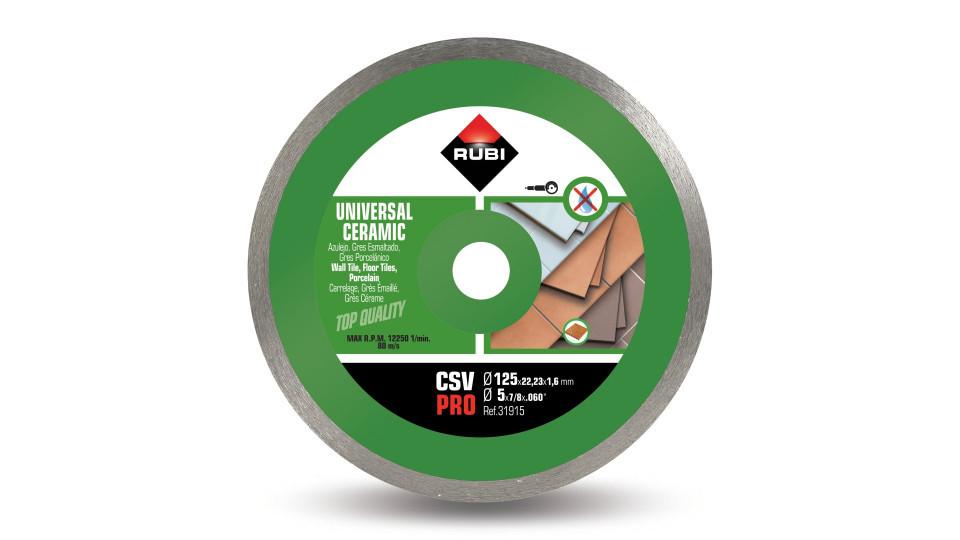 Disc diamantat pt. placi ceramice 125mm, CSV 125 Pro - RUBI-31915 imagine RUBI albertool.com