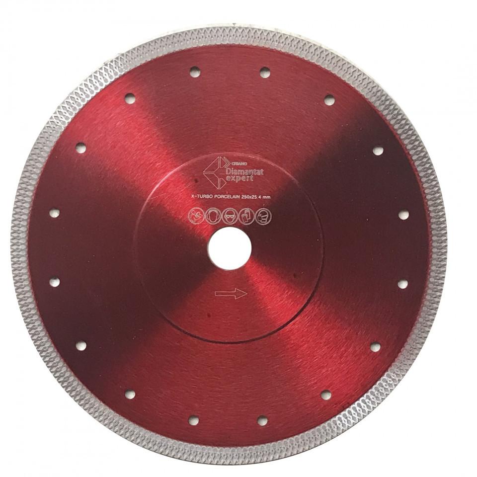 Disc DiamantatExpert pt. Portelan dur & Gresie ft. dura 230x25.4/22.2 (mm) Premium - DXDY.XTURBO.230.25 DiamantatExpert