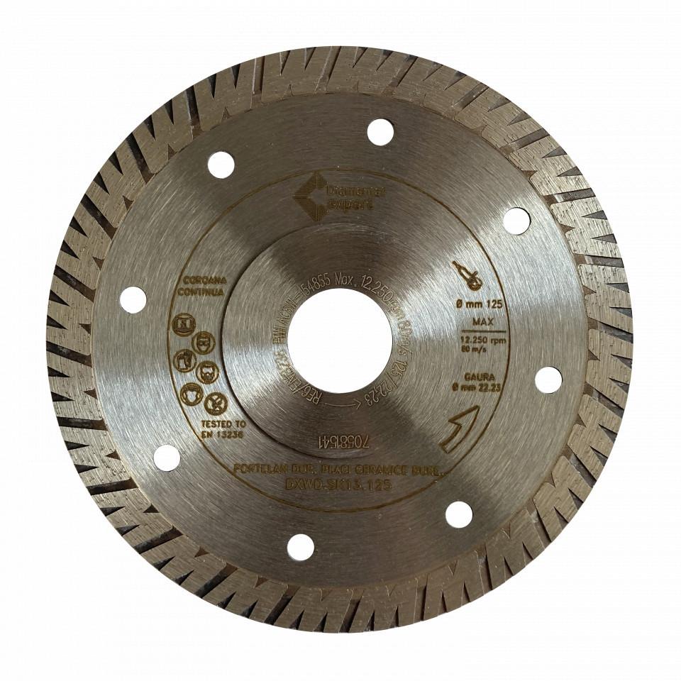 Disc DiamantatExpert pt. Portelan dur, Placi ceramice dure 125x22.2 (mm) Ultra Premium - DXWD.SK13.125 DiamantatExpert