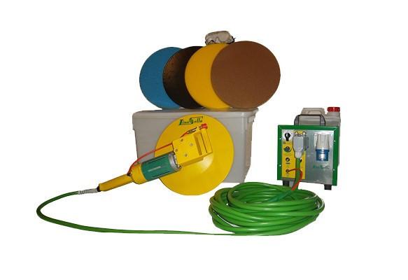 Drisca electrica - Finisare umeda tencuieli si gleturi mecanizate, pompa de apa incorporata + cutie de accesorii - LS-SV18 Lino Sella