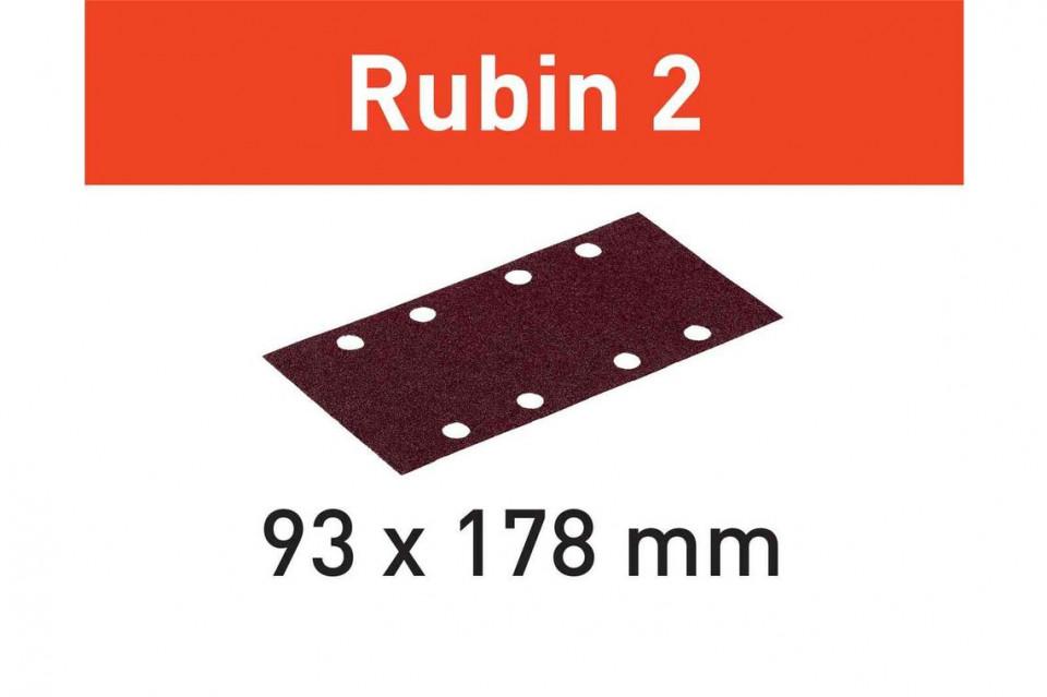 Foaie abraziva STF 93X178/8 P100 RU2/50 Rubin 2 imagine Festool albertool.com