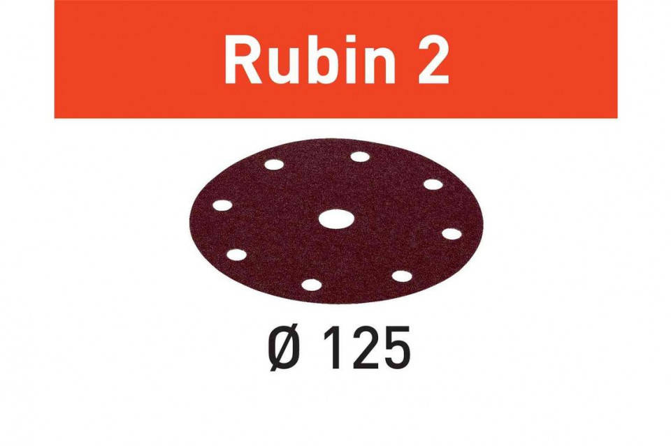 Foaie abraziva STF D125/8 P100 RU2/50 Rubin 2 imagine Festool albertool.com