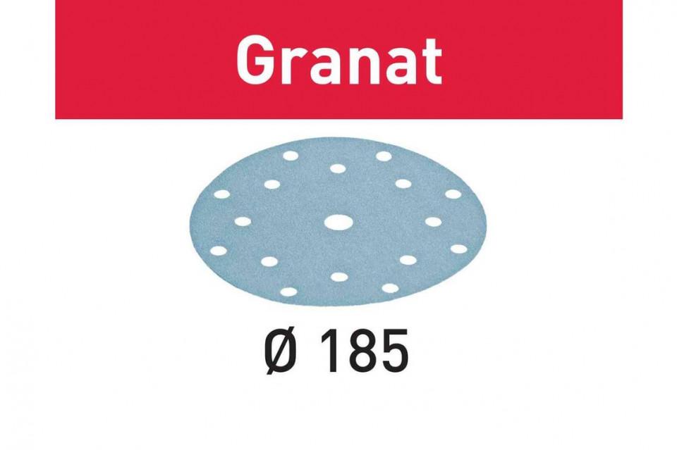 Foaie abraziva STF D185/16 P60 GR/50 Granat Festool