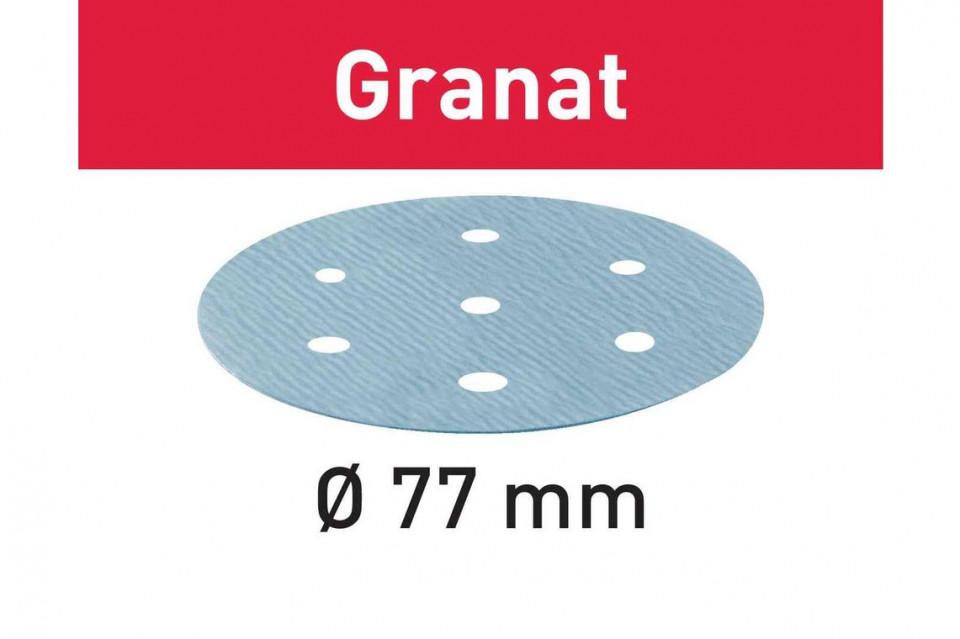 Foaie abraziva STF D77/6 P80 GR/50 Granat Festool