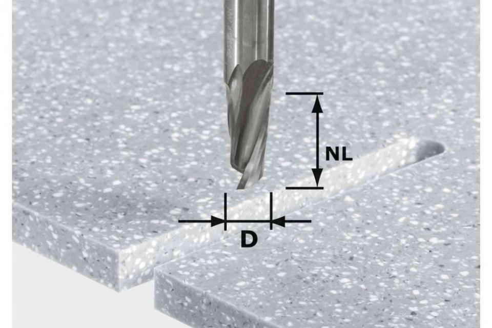 Freză pentru canale elicoidale HW D12/27 ss S12 Festool