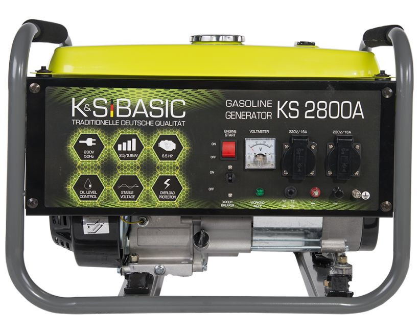 Generator de curent 2.8 kW benzina BASIC LINE - Konner & Sohnen - KSB-2800A imagine 2021