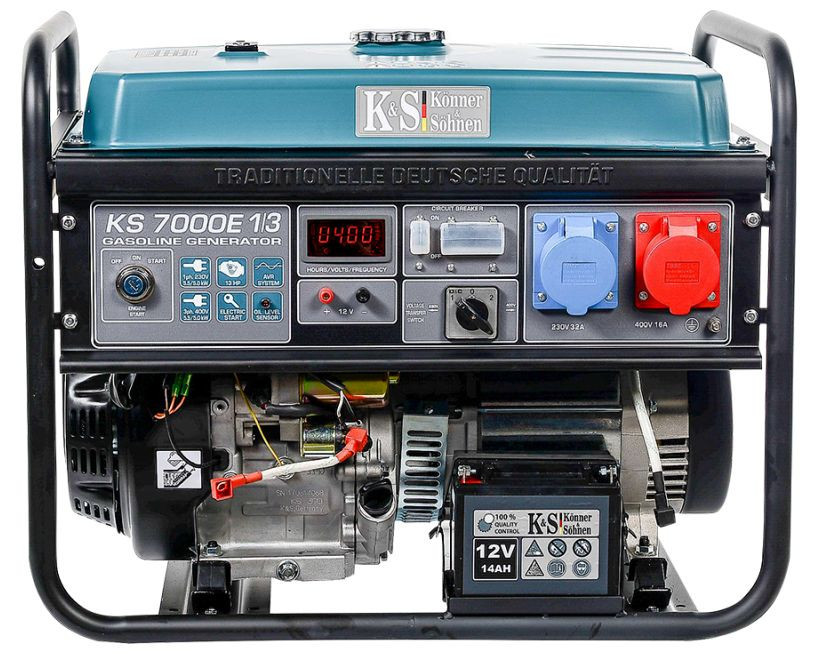 Generator de curent 5.5 kW benzina PRO - Konner & Sohnen - KS-7000E-1/3 imagine 2021
