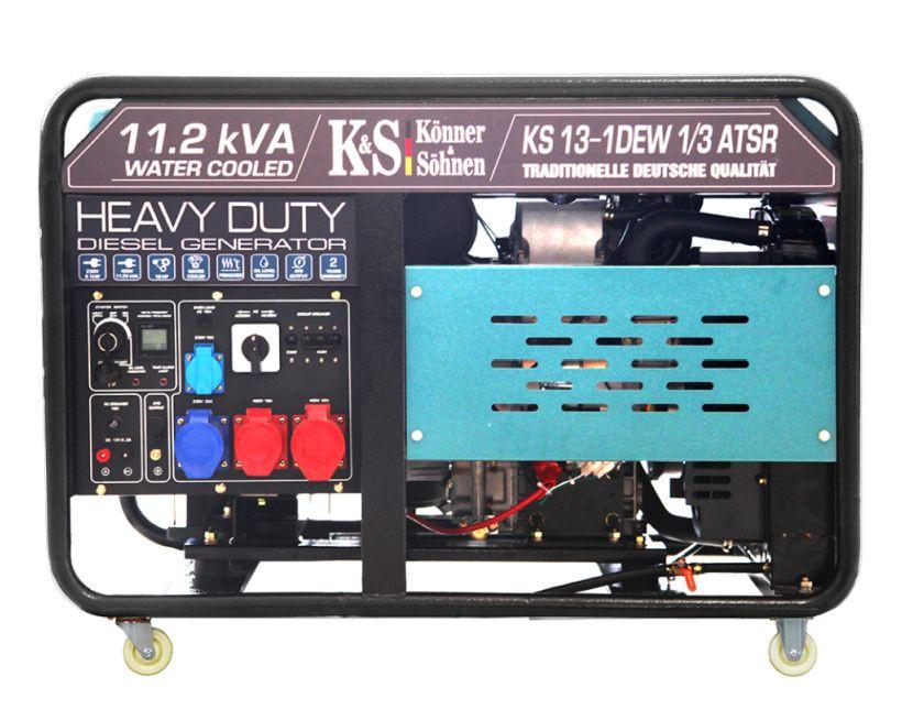 Generator de curent 9 KW diesel - Heavy Duty - Konner & Sohnen - KS-13-1DEW-1/3-ATSR imagine Konner & Sohnen albertool.com