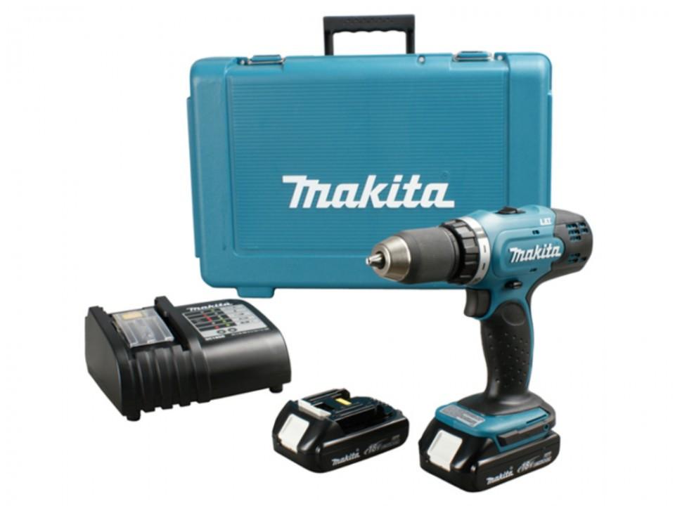 Makita DHP453SYE masina de insurubat si gaurit Li-Ion LXT 18V 1.5Ah imagine MAKITA albertool.com