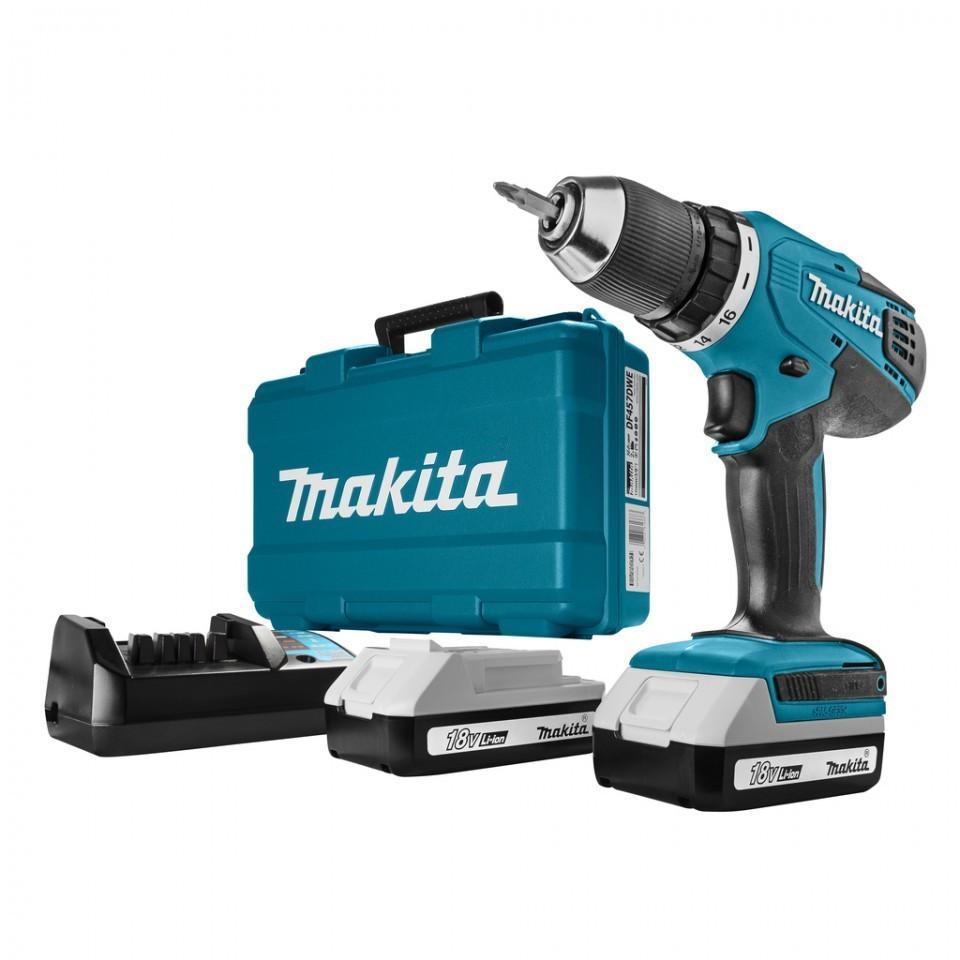 MASINA DE GAURIT - INSURUBAT MAKITA DF457DWE , 18 V, 2 AC., 1.3 AH imagine MAKITA albertool.com