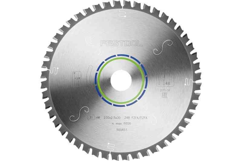 Panza circulara de ferastrau cu dinti plati 230x2,5x30 F48 Festool