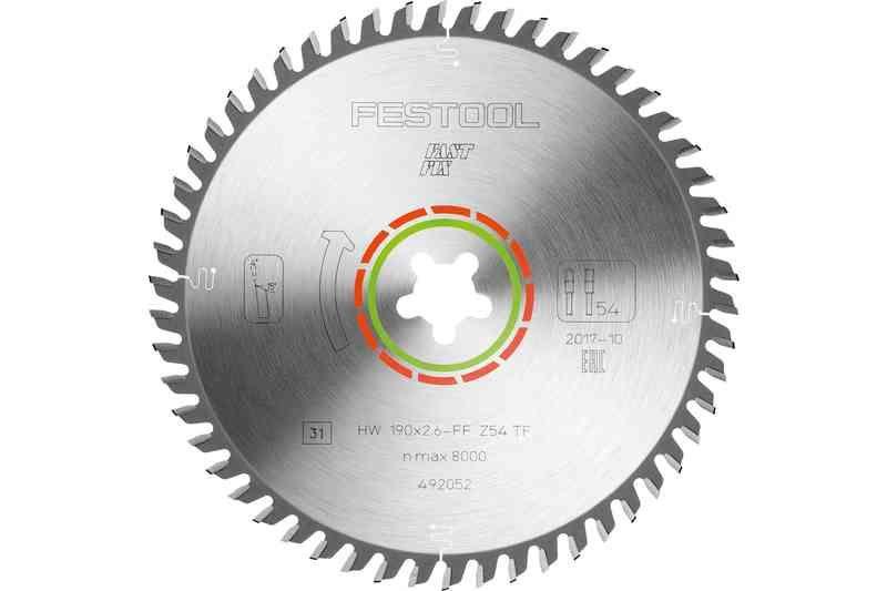 Panza speciala de ferastrau 190x2,6 FF TF54 imagine Festool albertool.com