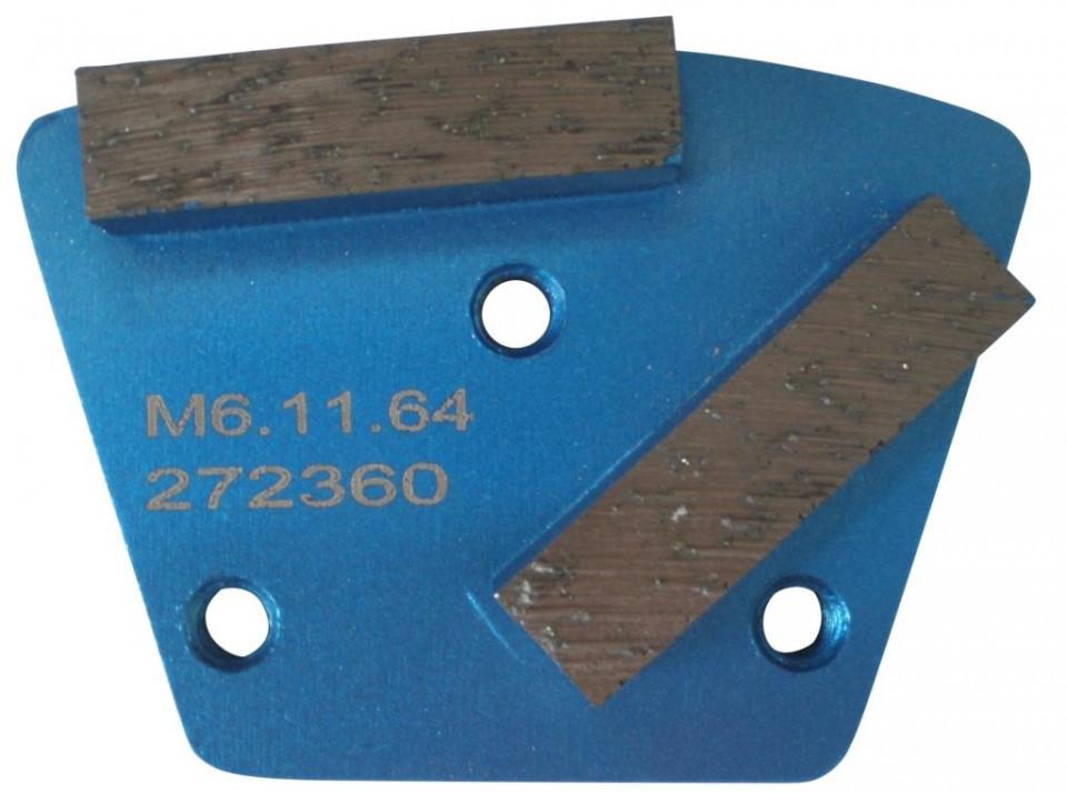 Placa cu segmenti diamantati pt. slefuire pardoseli - segment fin (albastru) # 80 - prindere M6 - DXDH.8506.11.65 DiamantatExpert