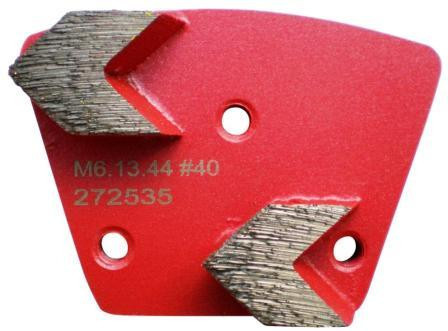 Placa cu segmenti diamantati pt. slefuire pardoseli - segment mediu (rosu) # 40 - prindere M6 - DXDH.8506.13.44-R DiamantatExpert