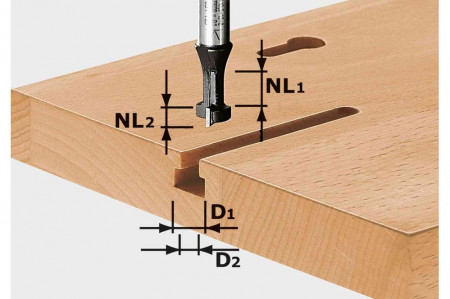 Freză pentru caneluri în T HW S8 D10,5/NL13