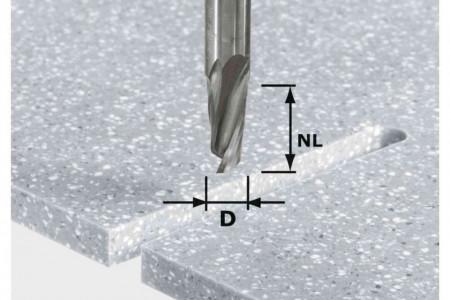 Freză pentru canale elicoidale HW Spi D12/42 RD ss S12