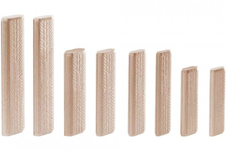 Cepuri din lemn de fag DOMINO D 8x100/150 BU
