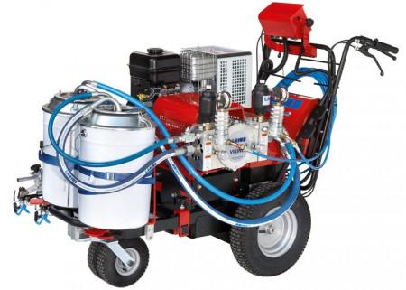 Pompa airless pentru trasat marcaje rutiere Larius VIKING 2 CULORI