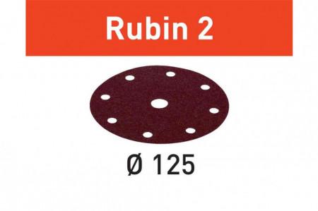 Foaie abraziva STF D125/8 P120 RU2/50 Rubin 2